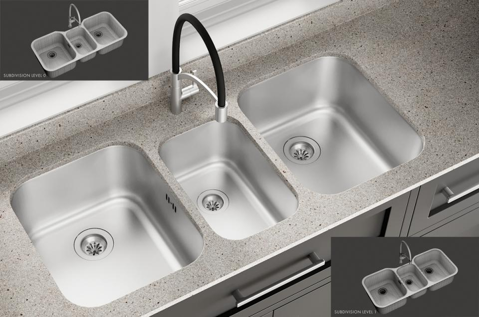 3d Sink Infinite Mixer Spinoza turbosquid