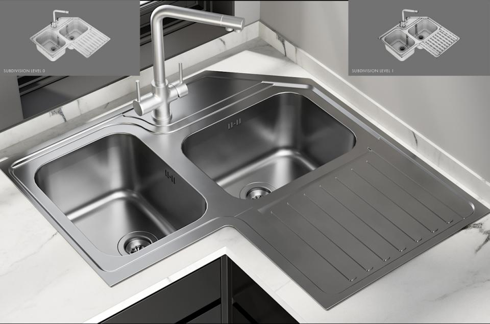 Sink Alba Mixer Amalfi 3d model turbosquid