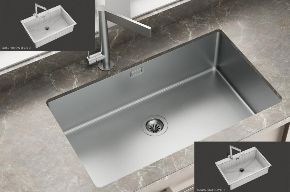 Sink Mira Mixer Hitech 3d model turbosquid