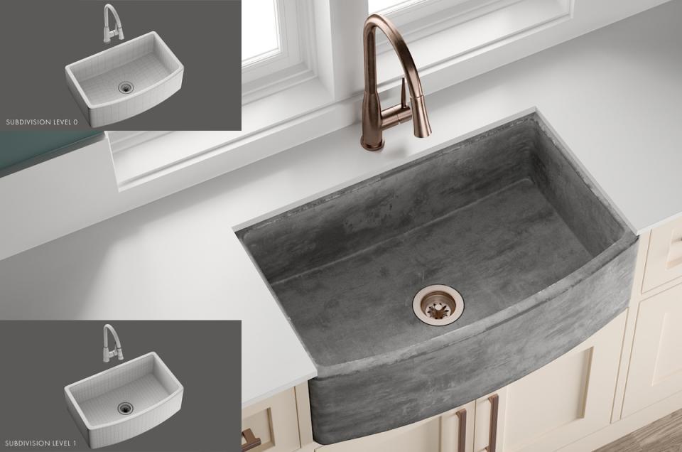 Sink Quartet Mixer Benmont 3d model turbosquid