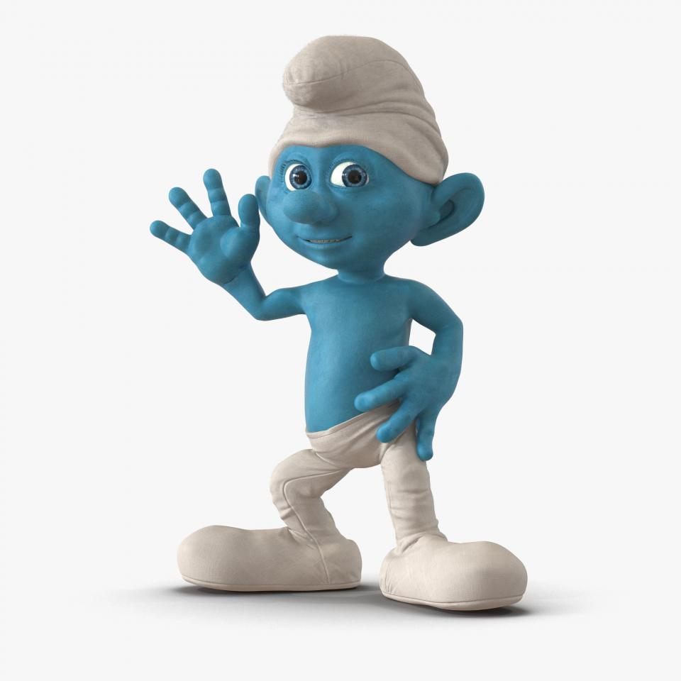 Smurf rigged 3d model turbosquid