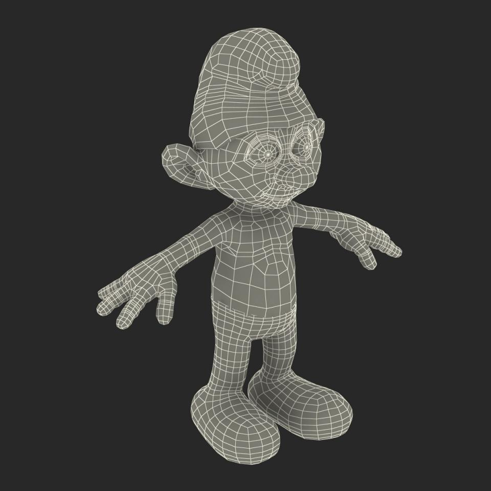 Smurf wireframe 3d model turbosquid