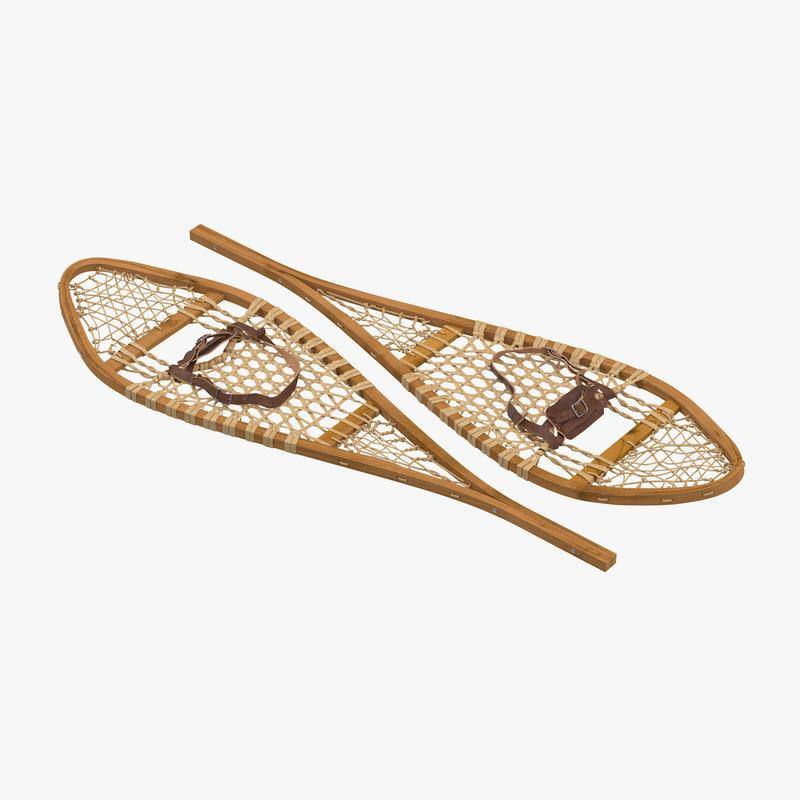 snowshoes 3d model turbosquid