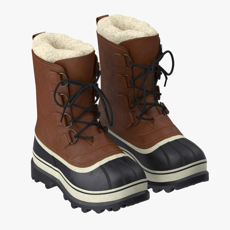 snow boots 3d model turbosquid