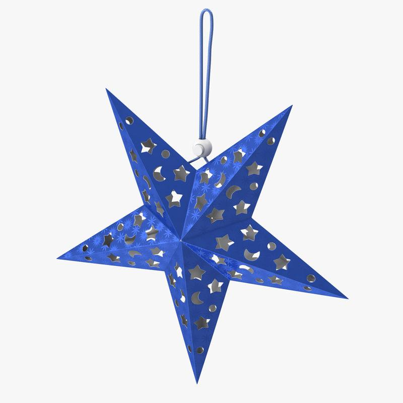 star christmas ornament 3d model turbosquid