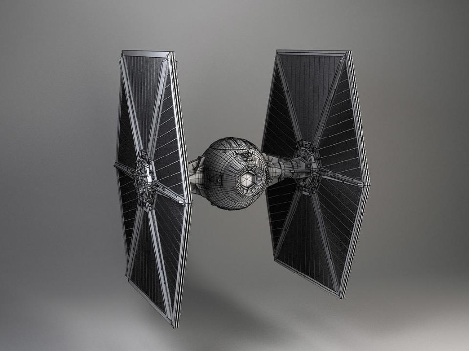 tie star wars fighter 3d model turbosquid