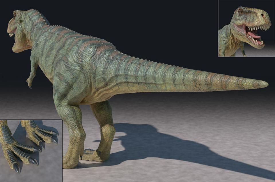 tyrannosaurus 3d model turbosquid