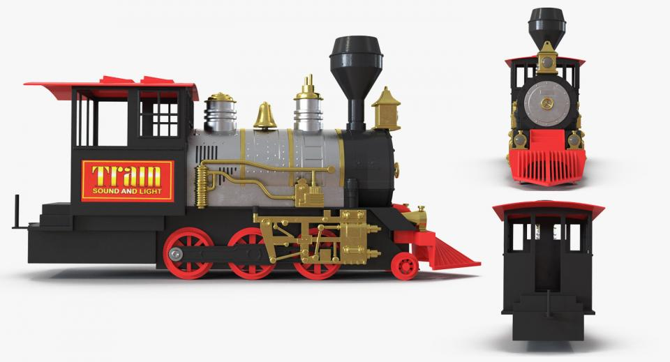 old train toy 3d model turbosquid