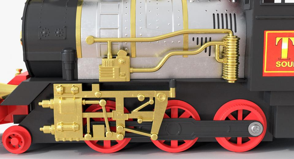 toy train with wagons 3d model turbosquid