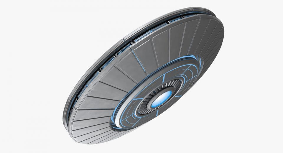 flying saucer 3d model turbosquid
