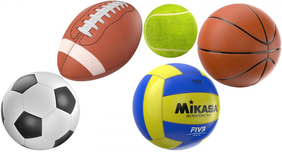 sports balls 3d model turbosquid