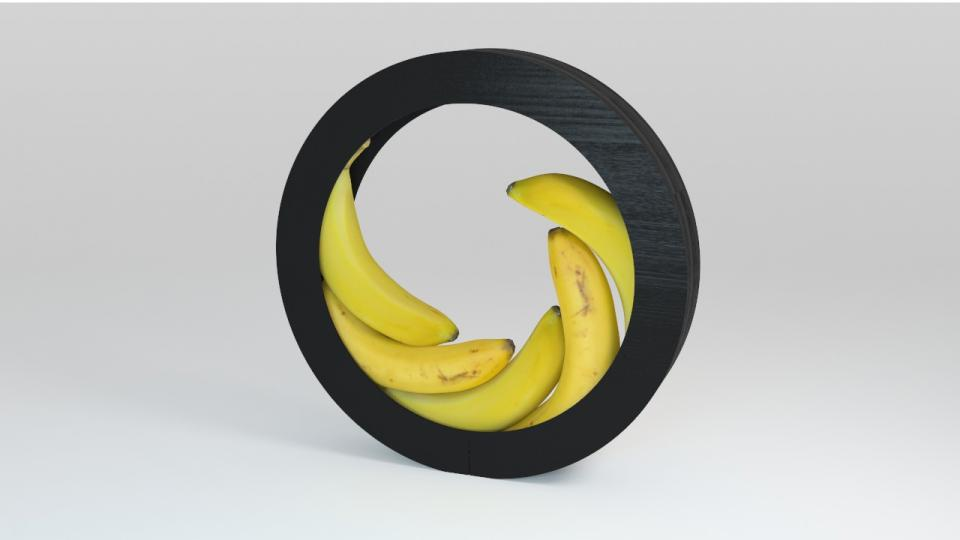 bananas in a circular bowl 3d model vizpark