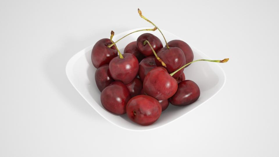 cherries 3d model vizpark collection