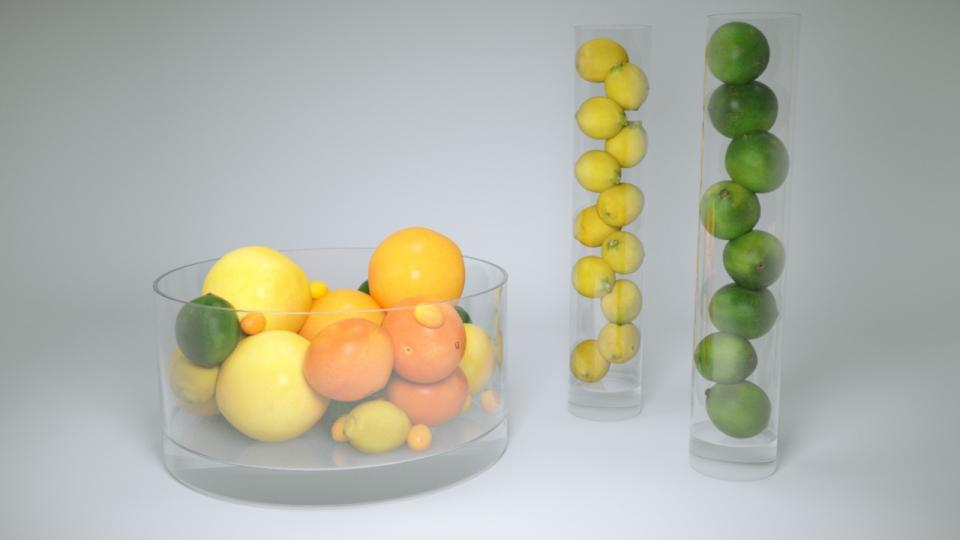 fruit glass decor 3d model vizpark