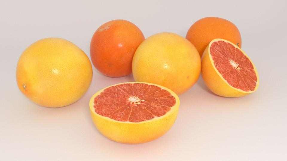 grapefruit 3d model vizpark