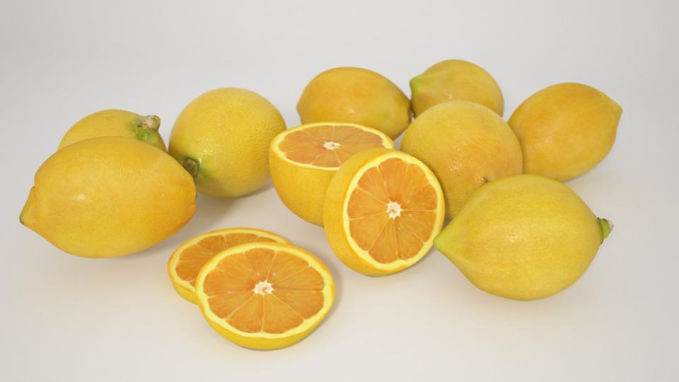 lemons 3d model vizpark