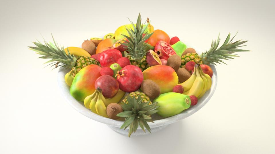 exotic fruits 3d model vizpark