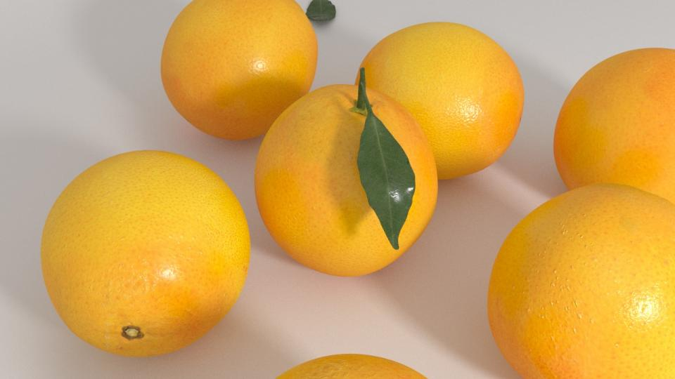 set of oranges 3d model vizpark
