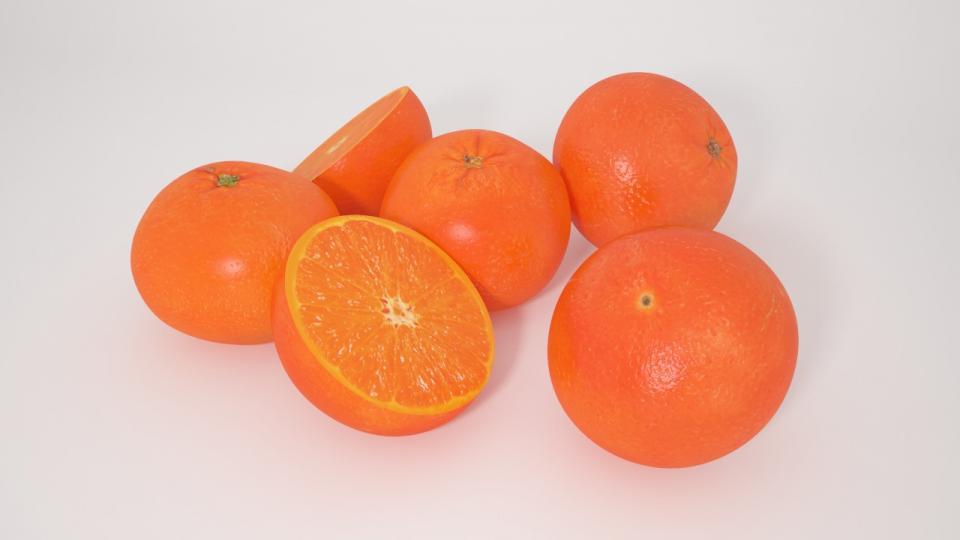 tangerine 3d model vizpark