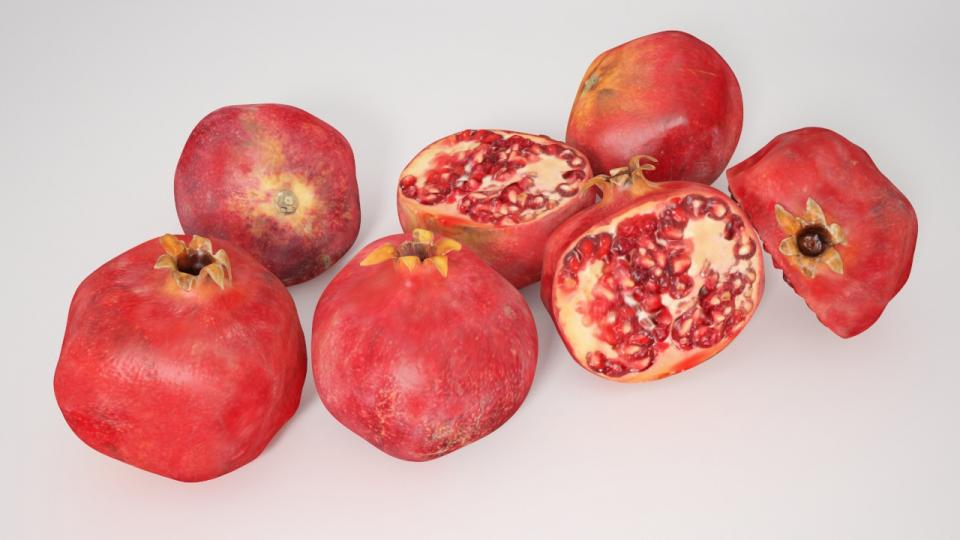 pomegranate 3d model vizpark