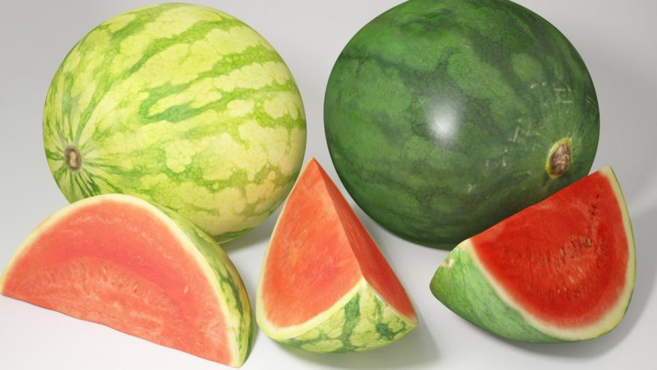 watermelon 3d model vizpark