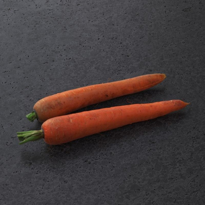 carrot 3d model turbosquid