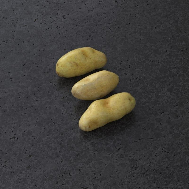 potatoes 3d model turbosquid
