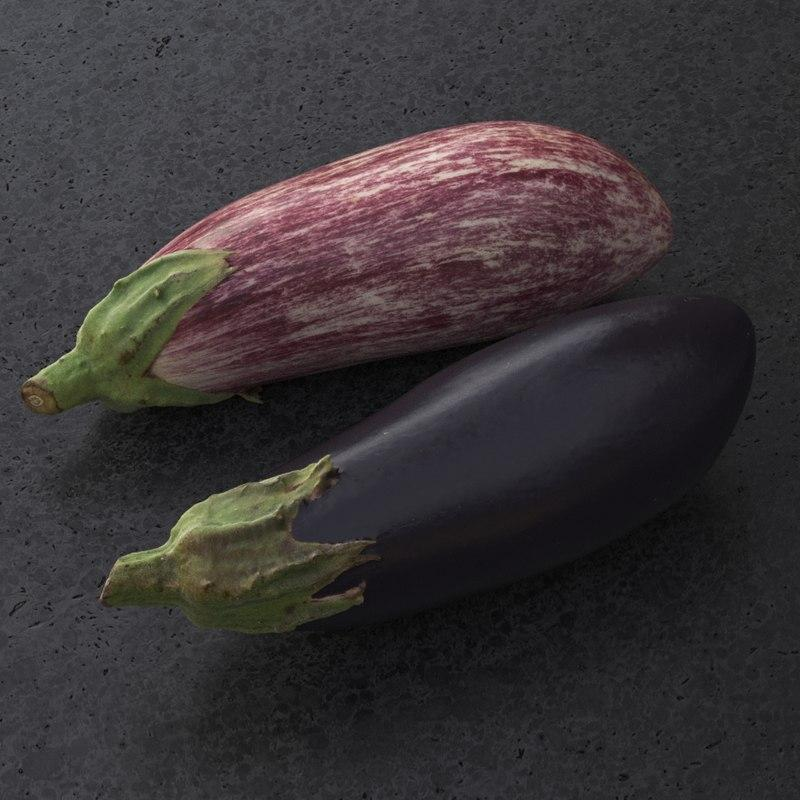 aubergine 3d model turbosquid