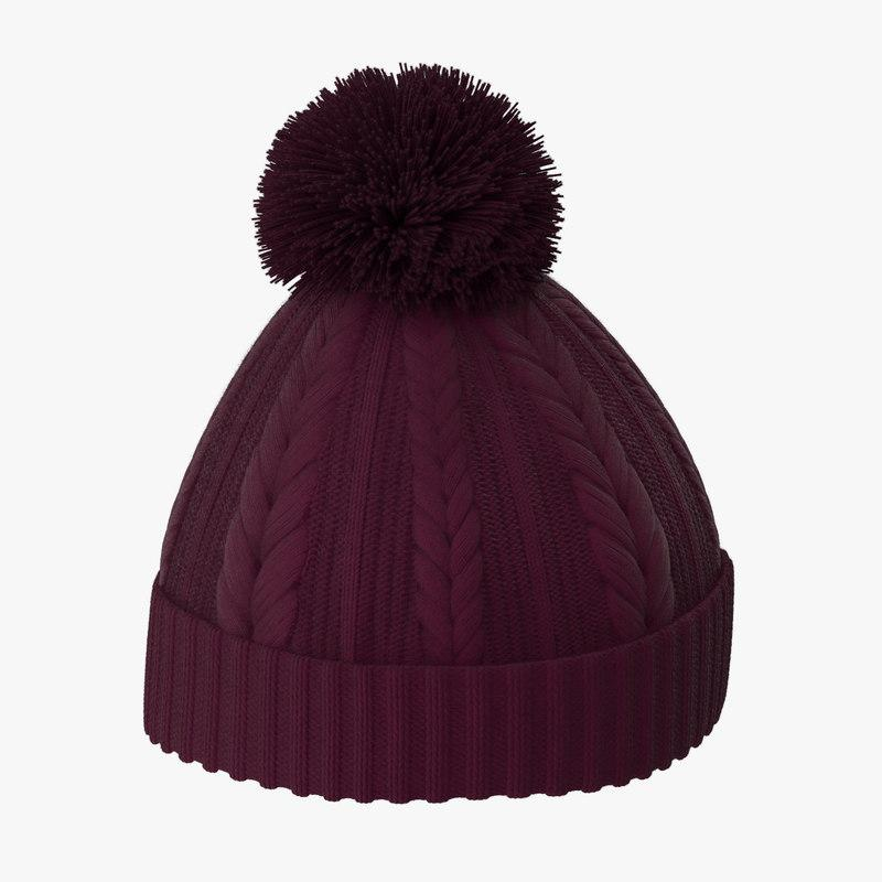 beanie hat 3d model turbosquid