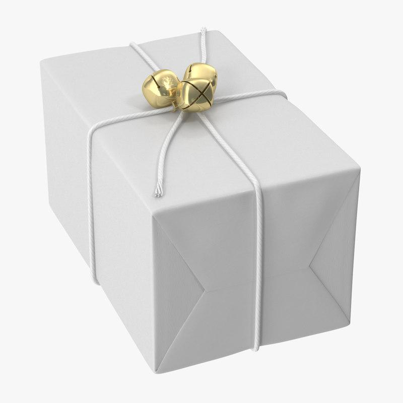 wrapped christmas gift 3d model turbosquid