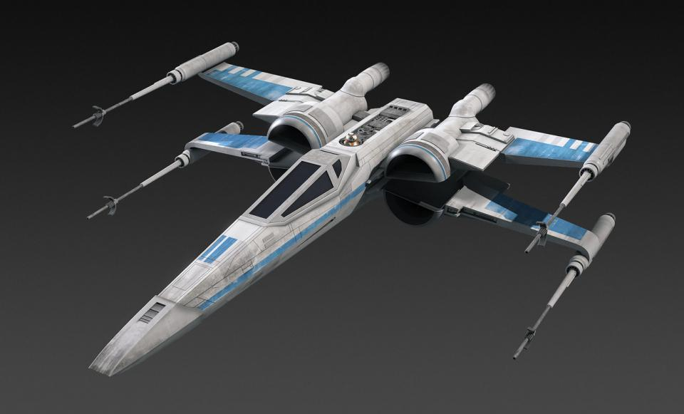 Xwing fighter star wars 3d model turbosquid
