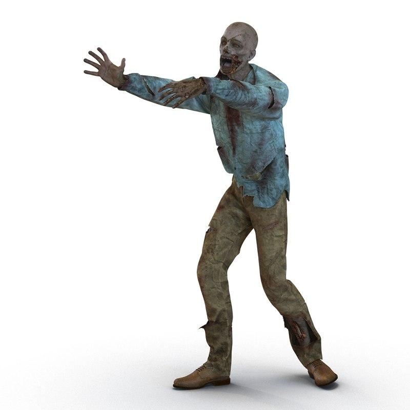 3d model zombie animated