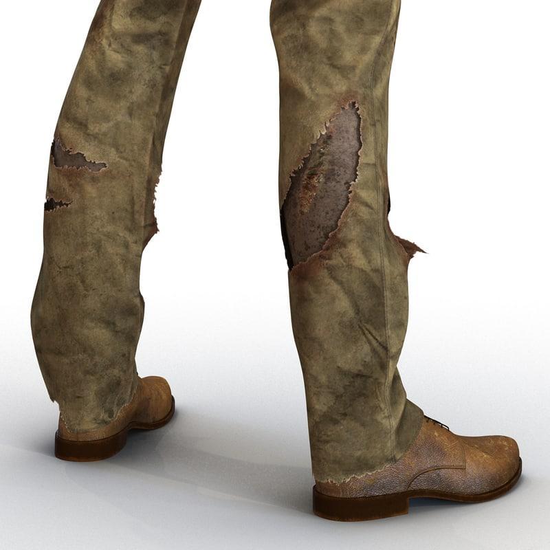 3d model zombie feet