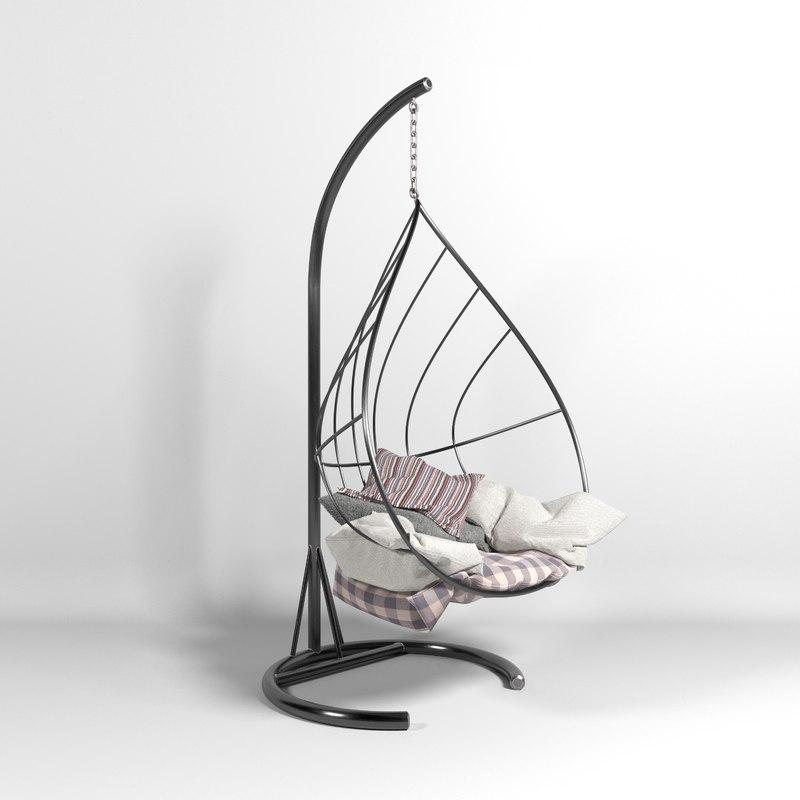 hammock 3d model turbosquid