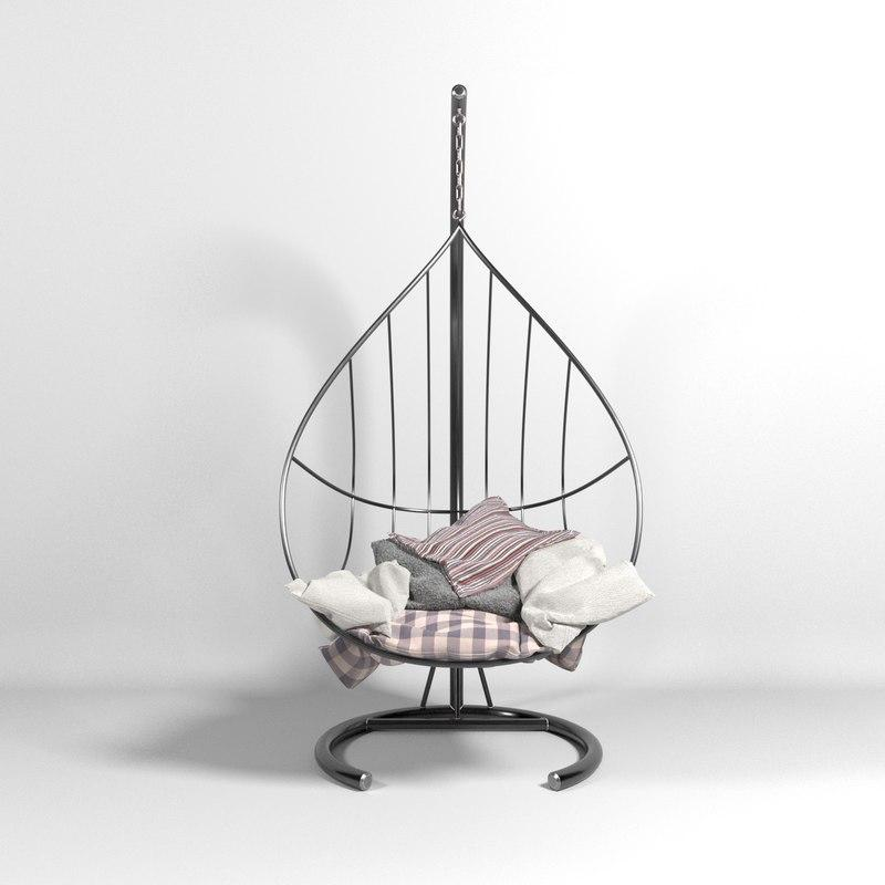 chair hammock 3d model turbosquid