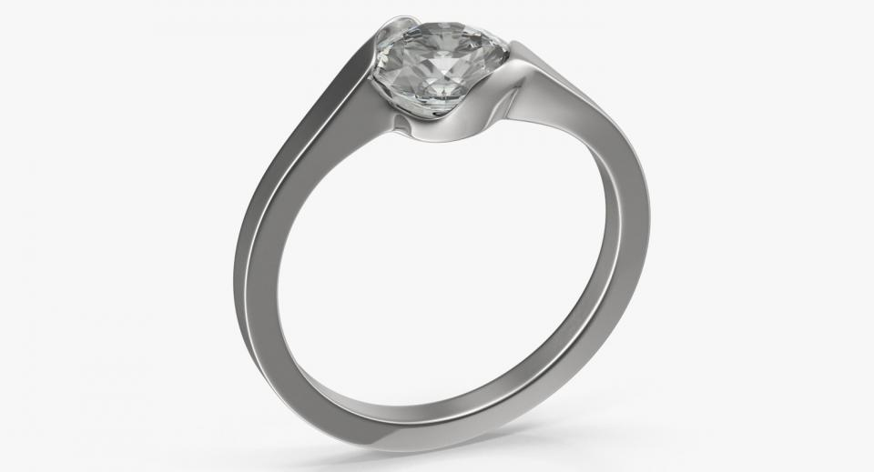 diamond ring 3d model turbosquid