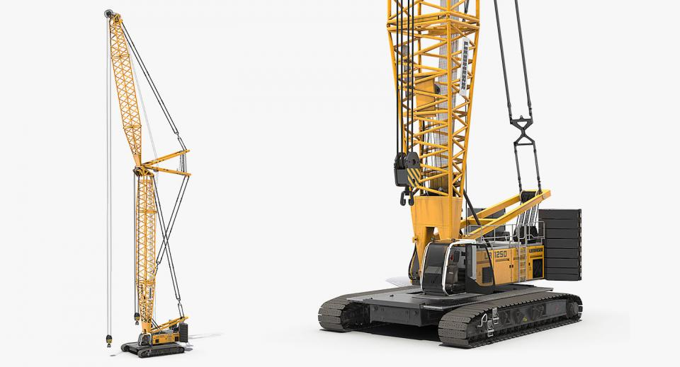 crawler crane 3d model turbosquid