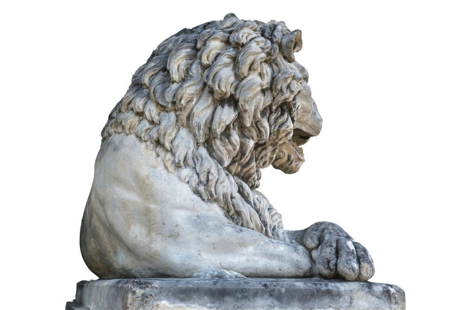 lion statue in vienna scanned 3d model turbosquid