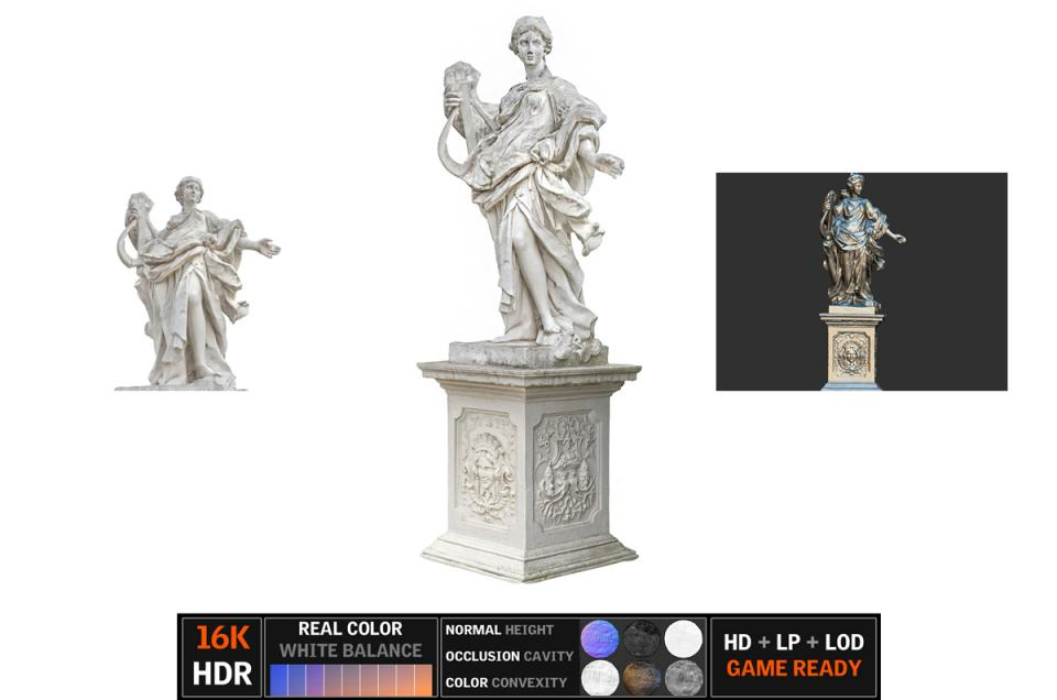 famous sculpture vienna scanned 3d model turbosquid