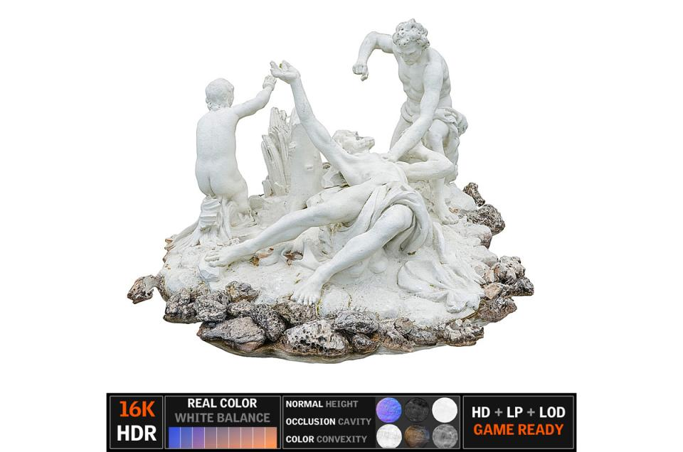 porcelain figurine scanned 3d model turbosquid
