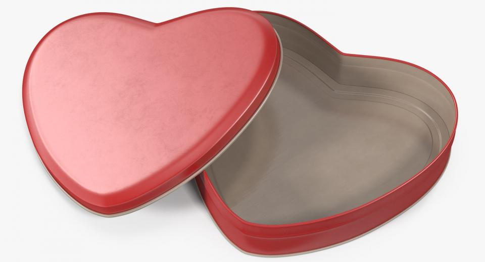 heart shaped tin box 3d model turbosquid