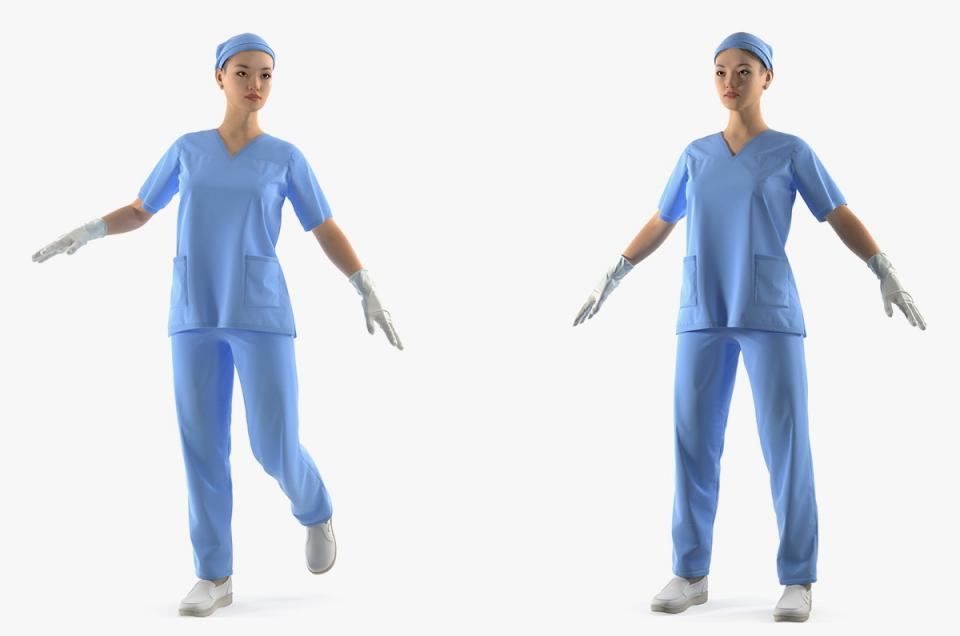 asian surgeon rigged 3d model turbosquid