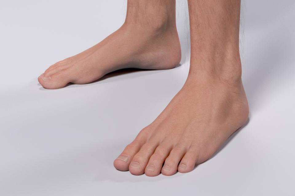 male feet 3d model turbosquid