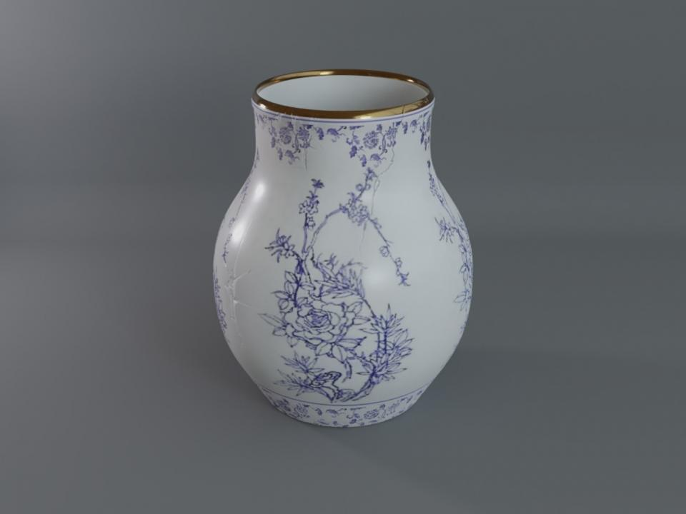 chinese jar 3d model cubebrush