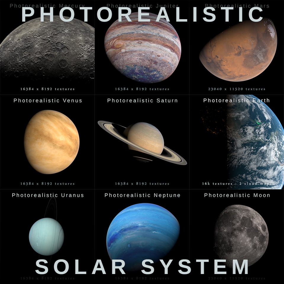 solar system collection 3d model