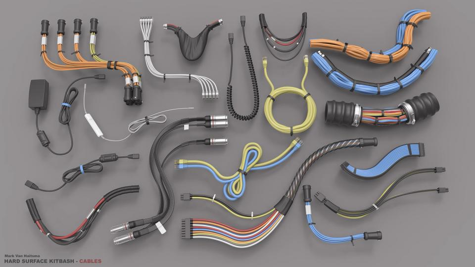 cables 3d models collection cubebrush