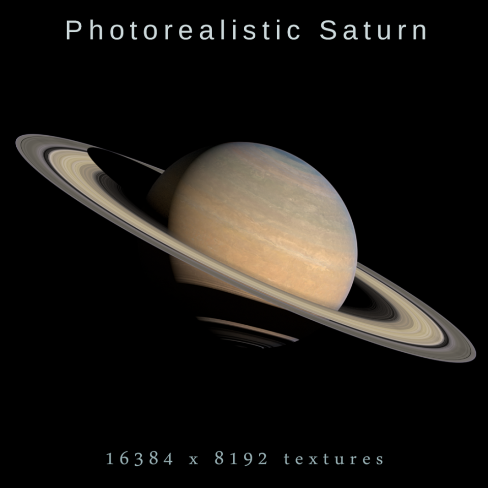 photorealistic saturn 3d model