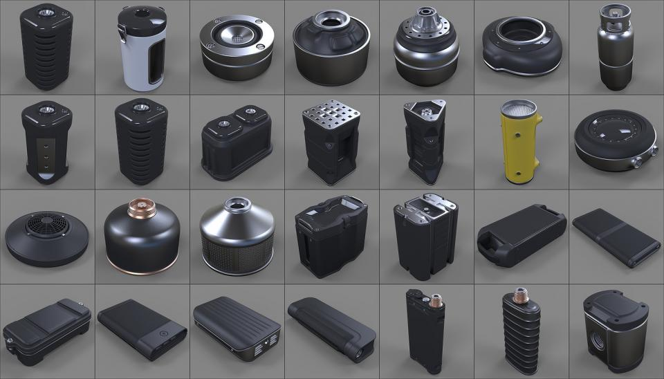 canisters 3d models collection cubebrush