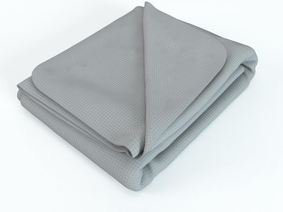 blanket for bed 3d model