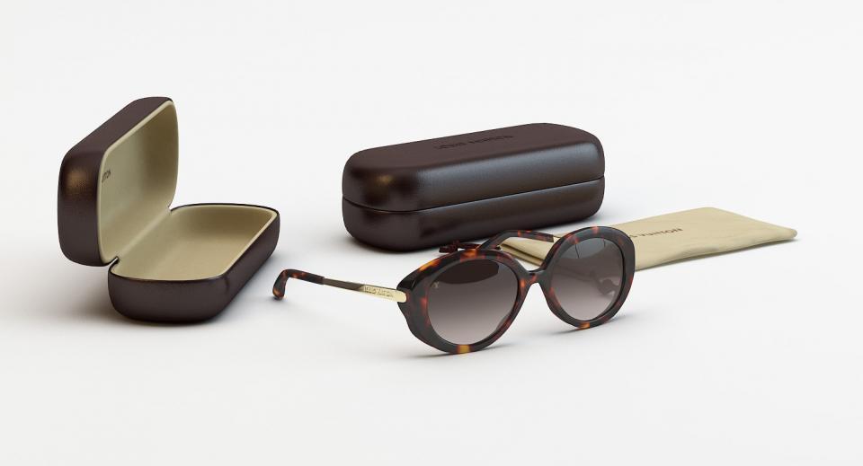 3d model of Louis Vuitton sunglasses